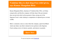 Vodafone Idea to shut shop if no relief given