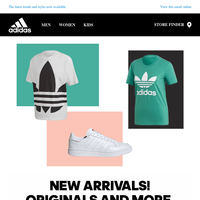 New Arrivals! Upgrade your wardrobe with Lifestyle and Performance selection from adidas