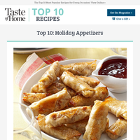 Top 10: Holiday Appetizers