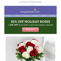 Dreaming of Candy Cane Roses (Now 50% OFF)? We have those.