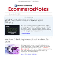 Enticing International Markets | Thanksgiving Weekend Sales | SEO in 2020