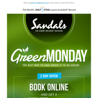 Green Monday - The Best Way to Save Green is to Go Green!