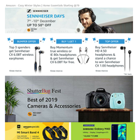 Amazon - #lastday Sennheiser @ 50% OFF | Small Business Days Offers | Oneplus 6th Anniversary