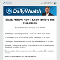 Black Friday: How I Knew Before the Headlines