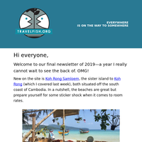 Travelfish #370: Good riddance to 2019! + some less travelled spots for 2020