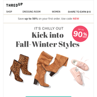 👀 Shoes ready for winter? Shop shoes from $9.