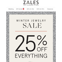 Dazzle Them This Holiday Season! Save 25% Off Everything