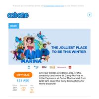 Little Explorers Winter Camp/Baskin Robbins Sundaes/Christmas at ibis Styles/IMG Worlds of Adventure Polar Party/KidZania & Dubai Ice Rink/Amwaj Relaxation + Gym and so much more