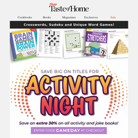 Family Game Night! 30% Off!