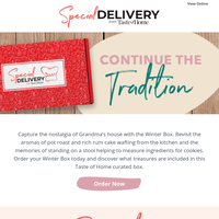 Continue the Tradition with the Winter Box