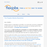 30% Off of FlexJobs Gift Certificates! Plus, Hilton Is Hiring for 700+ Remote Sales & Customer Service Jobs, Last Chance for ACA Healthcare Open Enrollment, and More