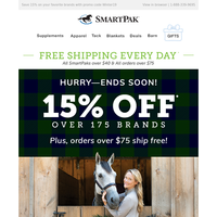 15% OFF Everything From Breeches to Bridles!