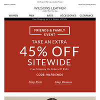 Your Closet Deserves A Gift - Now Extra 45% Off!