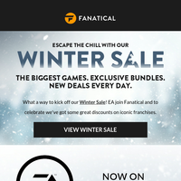 The Winter Sale starts right now | EA games now on Fanatical