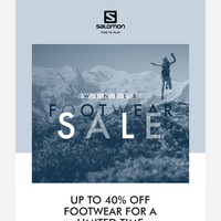 Shop up to 40% off footwear now!