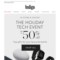 Up To 50% Off Tech + Last Chance To Order For Delivery By Christmas