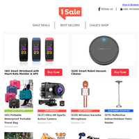 Echo Dot 99¢?! | Smart Wristband $6 | Foldable Travel Bag $5 | Karaoke Mic $18 | Robot Vac $20 | Patio Heater $75 | Action Cam $17 & More!