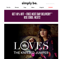 Simply Be LOVES: The Knitted Jumper