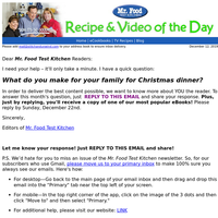 What do you make for your family for Christmas dinner?