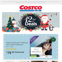 On the 6th Day of Deals, Costco has for you... £100 SpaFinder Wellness Gift Card Multipack ONLY £75.99 delivered