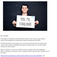 Last chance to win a free trip to Thailand!