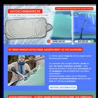 Schütze also deine Windschutzscheibe im Winter: eine spezielle Decke für Autofahrer