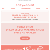 $49.99 Walking Shoes ⚡ Flash Sale + Free Shipping ENDS AT NOON!