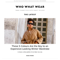These 5 colours are key to an expensive-looking winter wardrobe