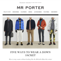 Five ways to wear a down jacket well