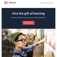 Give the gift of learning for as little as US$11.99! And maybe get yourself a little something too 😉