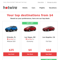 {NAME}: your hand-picked travel deals from $4! Chosen for you by our travel experts