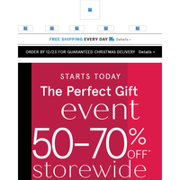 The Perfect Gift Event | 50-70% Off Storewide