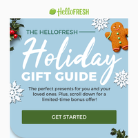 Our ultimate holiday gift guide + 9 free meals