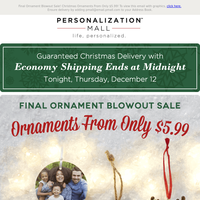 Final Ornament Blowout Sale As Low As $5.99