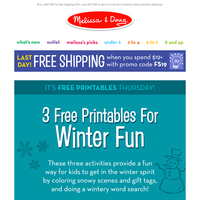 Here are your 3 free printables for the weekend!