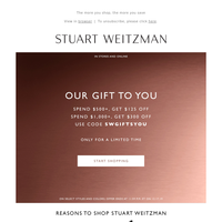 A Gift for You: Up to $300 Off