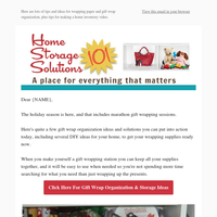 Gift Wrap Organization & Storage Ideas, Plus How To Make Your Home Inventory Video Or Photos
