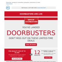 OMG! We've released new doorbusters.