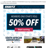 {NAME}, you've been sent THIS exclusive offer (50% off)