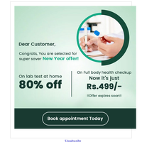 Hi {EMAIL}, Now or never health test offer.!