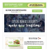 Restaurant Deals Near You!