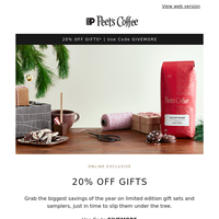 Check off your list with 20% off gifts