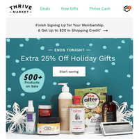 EXTRA 25% off wishlist-worthy presents 🎁