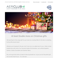 Turn your Christmas shopping into flights