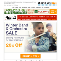 Winter Band & Orchestra Sale Is HERE! Take 20% off + Additional $5 Off With Coupon