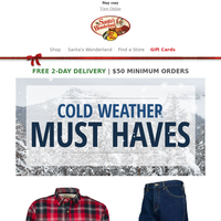 Get your cold weather must haves at Bass Pro Shops!