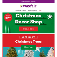 CHRISTMAS TREES 🎄 UP TO 50% OFF