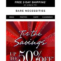 Fa-la-la-la love it! Up to 50% Off + Free 2-Day Shipping Offer