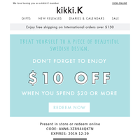 There's still time to enjoy $10 off!