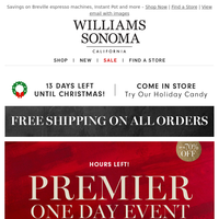 Last hours to take advantage of Premier Day savings ⏰